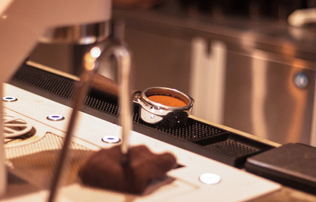 Perfect Coffee Bean Espresso Shot Tamping
