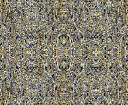 rapport: a repeating pattern on the fabric, rapport