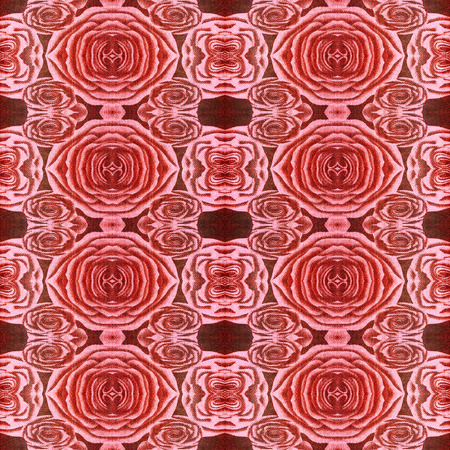 photos of pattern: Abstract pattern of roses, made of fragments of photos