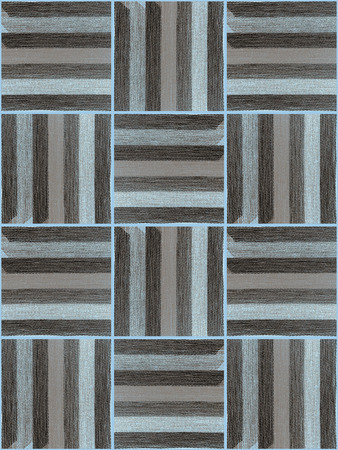 grey rug: The pattern of fragments striped fabric Stock Photo