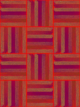 rug weaving: The pattern of fragments striped fabric Stock Photo