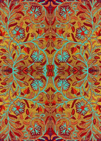 Helle bestickte Tagesdecke mit Blumenmuster Oriental Standard-Bild - 43151352