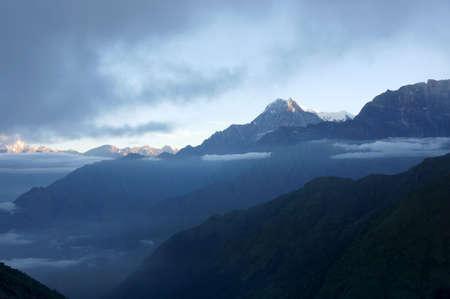 himalayas: Mountain landscape at dawn, Himalayas