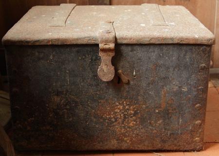 Old metal treasure chest