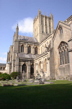 Gothic cathedral of Wells, United Kingdom Stock Photo