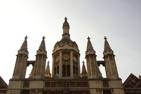 Detail from the entrance of King College, Cambridge University, United Kingdom