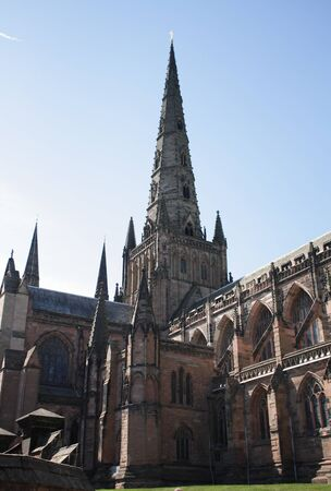 Cathedral of Lichfield, United Kingdom Stock Photo