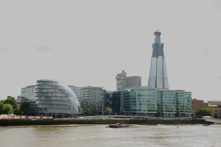 London view with the Shard und river Thames, United Kingdom photo