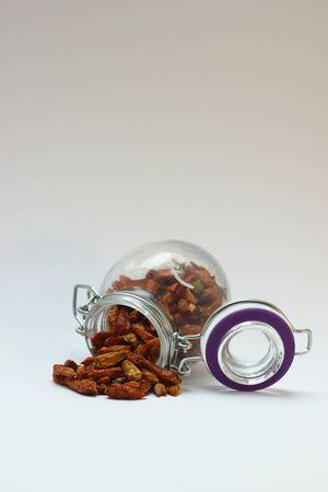 Dried chili in a glas Stock Photo - 13484659
