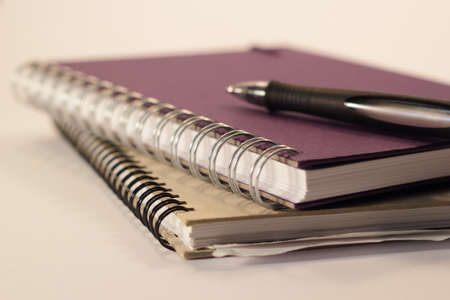 Two ring binder with a pen Stock Photo - 14099859