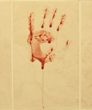 Bloody hand print Stock Photo - 14626621
