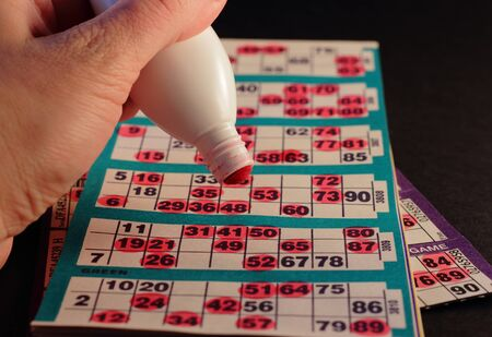 Closeup from a bingo game