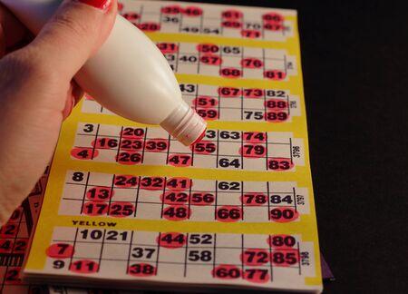bingo: Primer plano de un juego de bingo