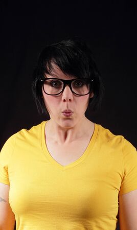 A woman with Geek glasses Stock Photo - 15177313