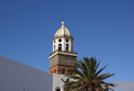 Church tower in Teguise, Lanzarote