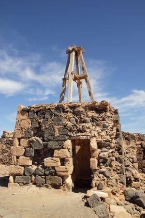 Old stone building on Lanzarote Stock Photo