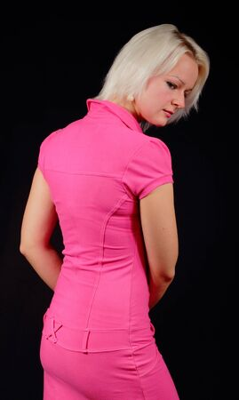 Woman in a pink dress Stock Photo - 15718922