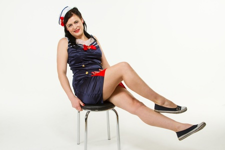 Woman in 1950�s Pin Up Style Stock Photo