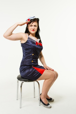 Woman in 1950�s Pin Up Style Stock Photo - 18060772