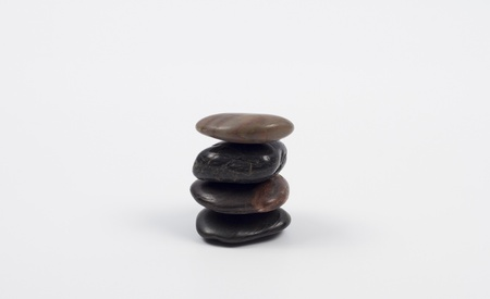 Stacked stones isolated on a white background