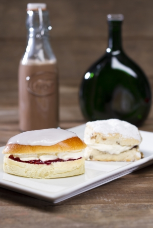 British Scone and Cream Bun photo