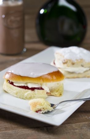 British Scone and Cream Bun