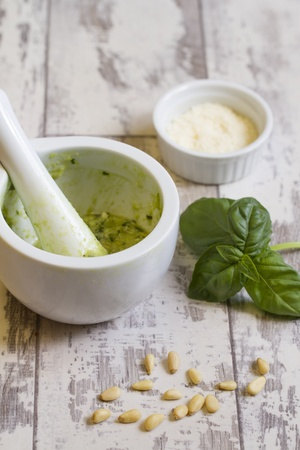 Homemade Pesto Stock Photo