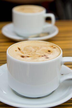 Two cappuccino Stock Photo