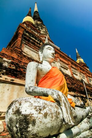historic sites: Buddha statues and historic sites. Holy place. Stock Photo