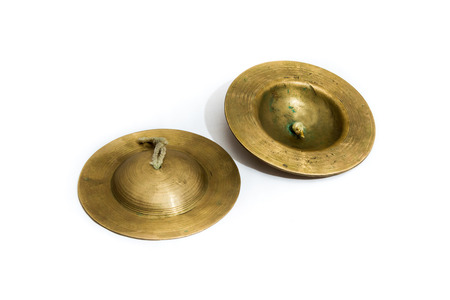 tempo: Thailand traditional Instruments cymbals. Stock Photo