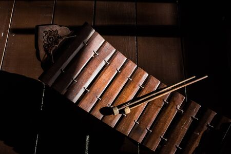 xilofono: Tailandesa musical xilófono instrumento, instrumento asiático.