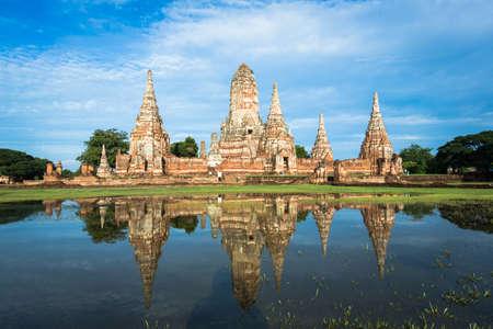 buddism: Temple Thailand call Wat Chai Watthnaram in Ayutthaya Stock Photo
