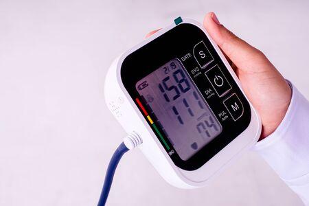 high blood pressure registered by nursing home geriatrician doctor. Stock fotó