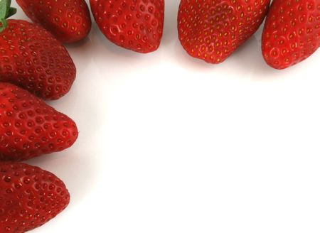 Border of Strawberries on an isolated background Imagens - 798561