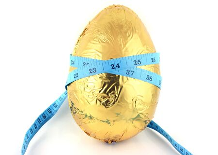 Easter Egg with Tape Measure round it