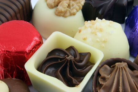 Close up of Luxury Chocolates   Banco de Imagens