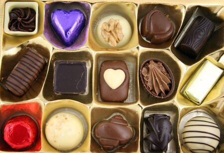 Close up of Luxury Chocolates Banco de Imagens - 805905