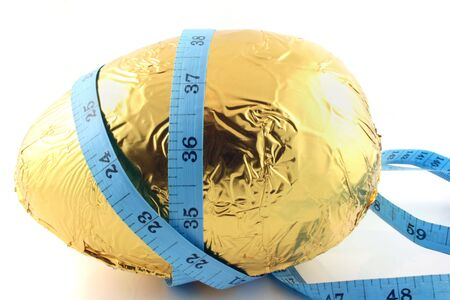 Close up of an easter egg with tape measure Banco de Imagens - 839579