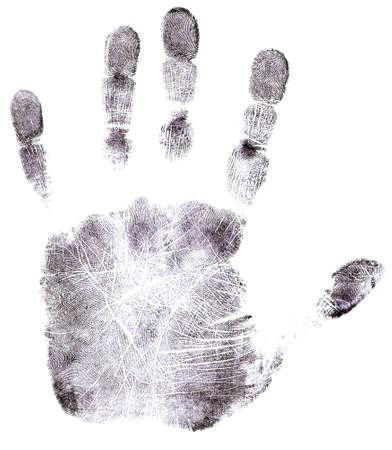 Full Hand black fingerprint - High Resolution monochrome image Imagens - 845327