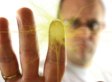 fingermark: Fingerprint Explosion of Yellow gas