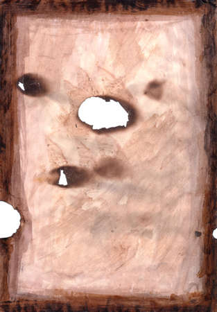 hi resolution: Alta resoluci�n de imagen de Grunge papel con agujeros severla Burns