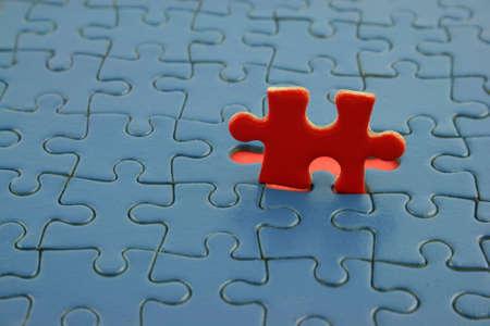 Close up of a Jigsaw  Banco de Imagens