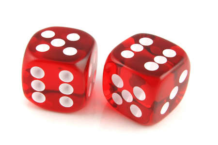 2 Dice close up Five and Six