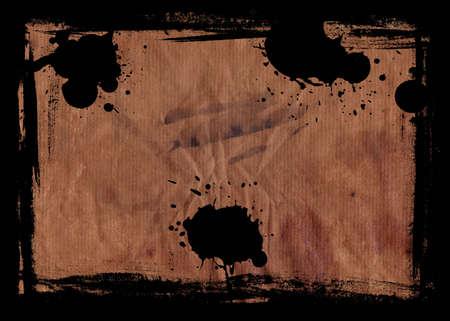 hi resolution: Alta resoluci�n de imagen quemada Grunge papel con un borde negro  Foto de archivo