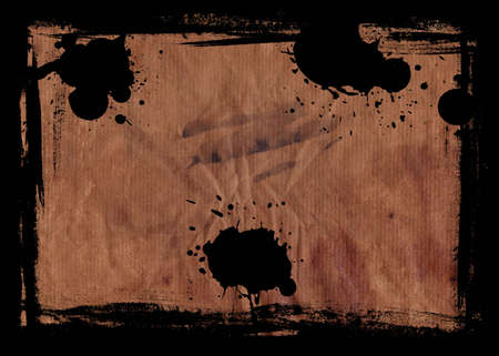 hi resolution: Hi resolution image of Burnt Grunge paper with a black Border