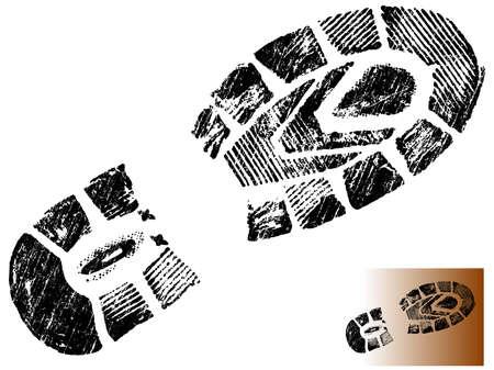 Aislados montaña BootPrint - altamente detallado de una montaña arranque-transparente, por lo que puede ser overliad en otros elementos gráficos