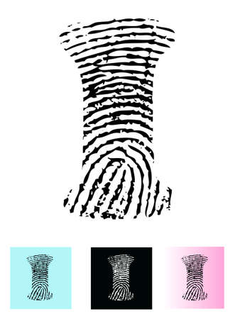 Fingerprint Alphabet Letter I (Highly detailed Letter - transparent so can be overlaid onto other graphics) Vector