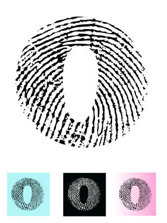 Fingerprint Alphabet Letter O (Highly detailed Letter - transparent so can be overlaid onto other graphics) Vector