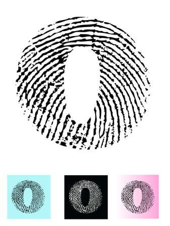finger paint: Fingerprint Alphabet Letter O (Highly detailed Letter - transparent so can be overlaid onto other graphics)