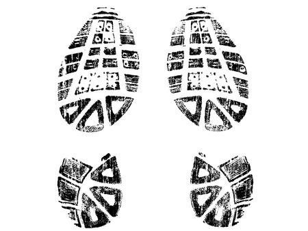 分離 Mountin BootPrints - 左と右の bootprints の非常に詳細なベクトル - 透明なベクトル グラフィック要素に overliad をすることができます。  イラスト・ベクター素材
